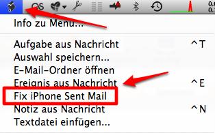 "Script Menü ""fix iPhone"""